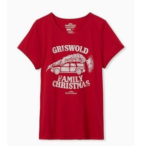 Griswold Family Christmas Red Slim Fit Graphic Tee